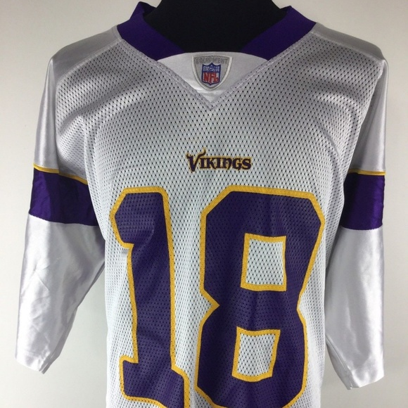 Reebok MINNESOTA VIKINGS White Football NFL Jersey 372a53f57